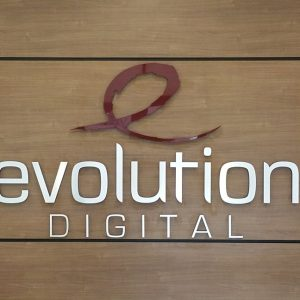 Lobby Sign for Evolution Digital in Centennial, CO