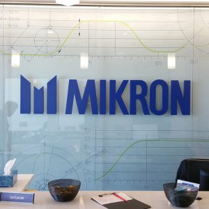 Lobby Sign for MIKRON Machining in Centennial, CO