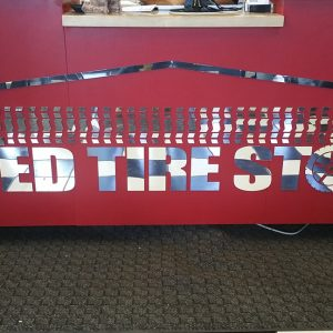Lobby Sign for Used Tire Store in Aurora, CO