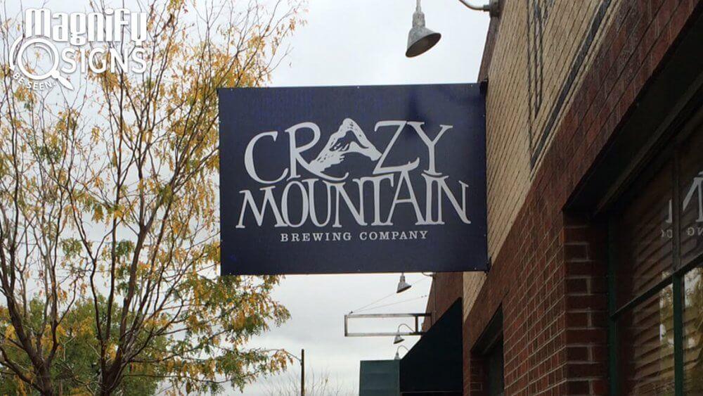Crazy Mountain Brewery Exterior Aluminum Mounted Sign