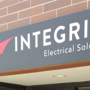 Aluminum sign for Integrity Electric in Golden, CO