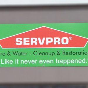 Aluminum sign for ServPro in Littleton, CO
