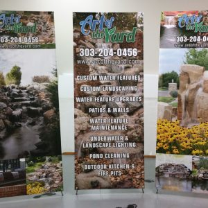 Banner Stands Art of the Yard in Highlands Ranch, CO