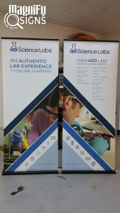 Retractable Banner Stands eScience Labs in Englewood, CO