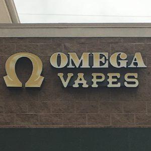 Channel Letters Sign for Omega Vapes in Denver, CO