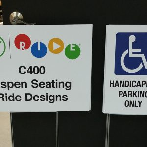 Coroplast signs for Aspen Seating and Ride Designs in Englewood, CO