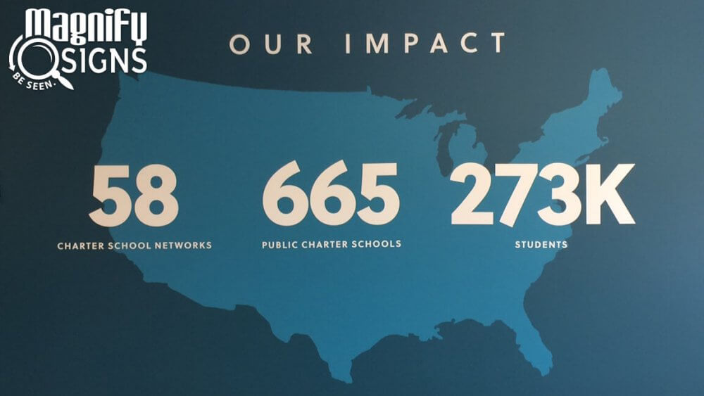 Cut Vinyl Sign For Charter School Growth Fund In