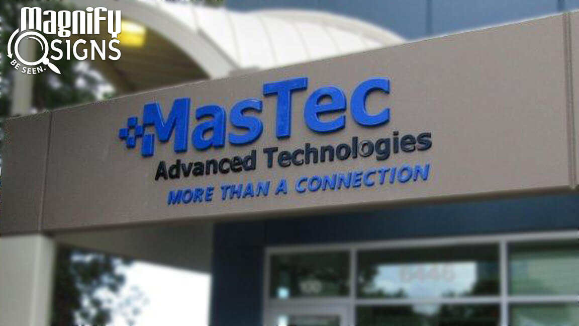Formed Plastic Channel Letters For Mastec Custom
