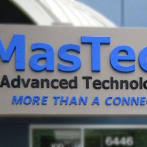 Formed Plastic Letters for MasTec in Centennial, CO