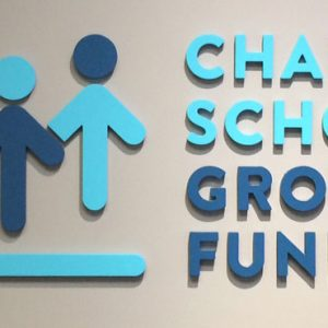 Lobby Sign for Charter School Growth Fund in Broomfield, CO