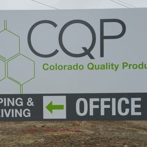 Post and Panel sign for CQP in Englewood, CO