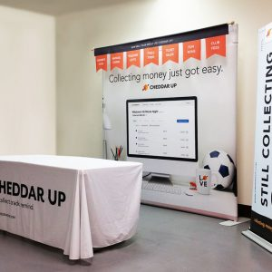 Trade Show Display for Cheddar Up in Englewood, CO