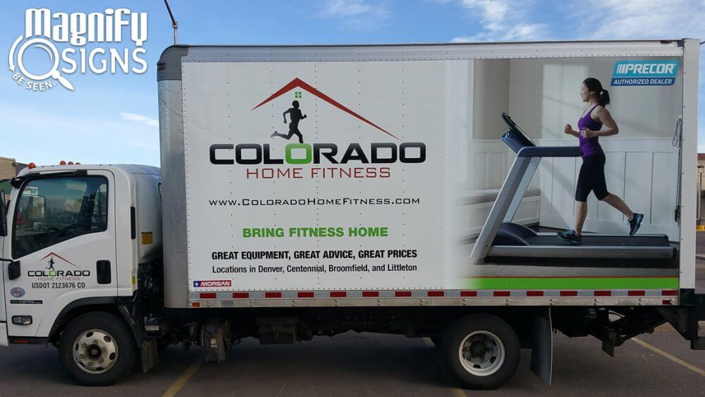 Vehicle Wrap for Colorado Home Fitness in Denver, CO