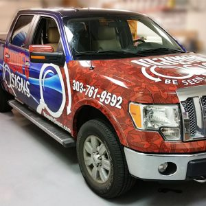 Vehicle Wrap for Magnify Signs Truck in Englewood, CO