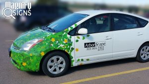 Vehicle Wrap for ArborScape Prius in Englewood, CO