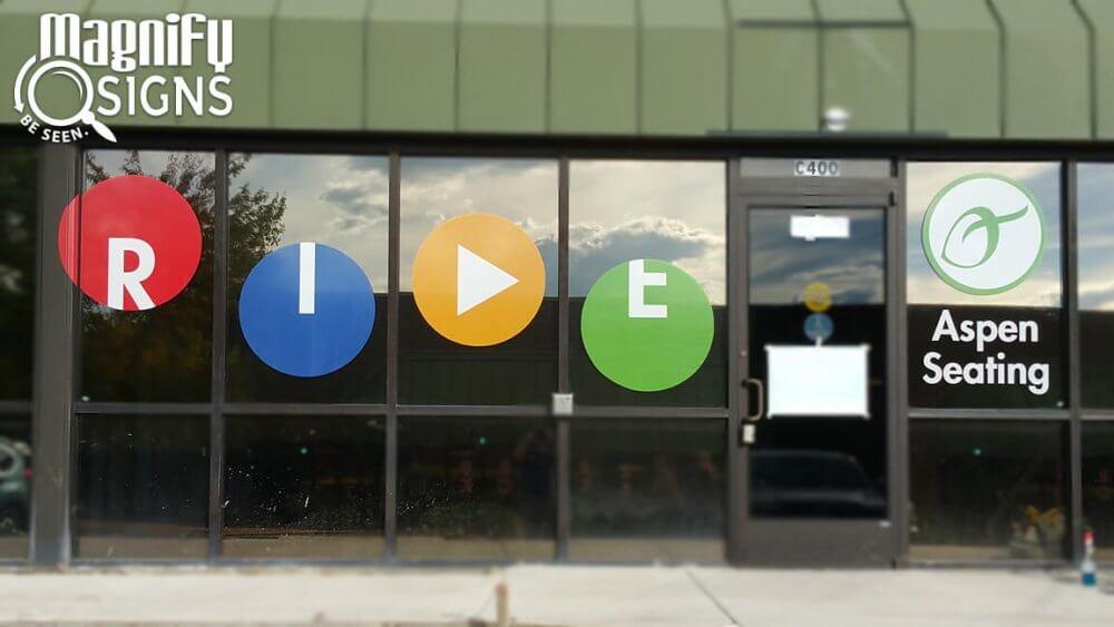 Window Vinyl for Ride Designs in Englewood, CO