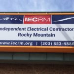 Light Cabinet Sign for IEC-RM in Northglenn, CO