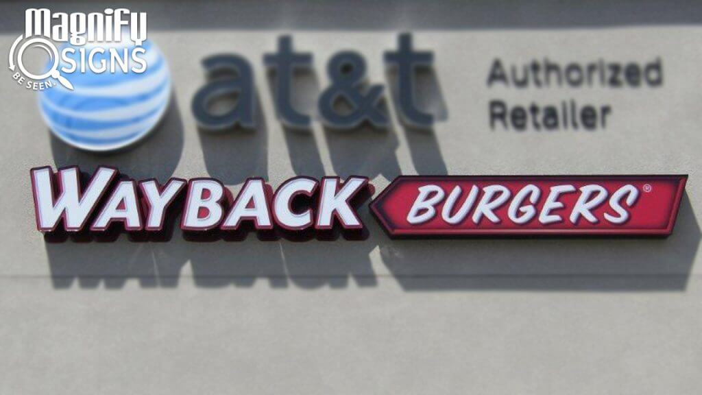 Channel Letters for Wayback Burgers in Littleton, CO