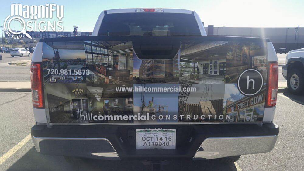 Custom Vehicle Graphics for Hill Commercial Construction in Littleton, CO