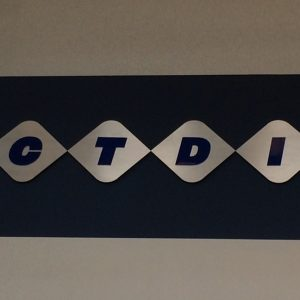 Custom Routed Aluminum and Acrylic Lobby Sign for CTDI in Denver
