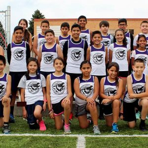 Team photo of the Los Lobos from Escuela de Guadalupe school in Denver, CO