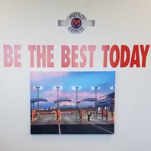 Custom Cut Vinyl Logo and Lettering for Metro Express Car Wash in Englewood, CO