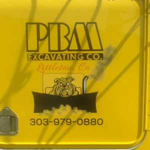 Vehicle Vinyl Graphics and Lettering for PBM Excavating in Littleton, CO