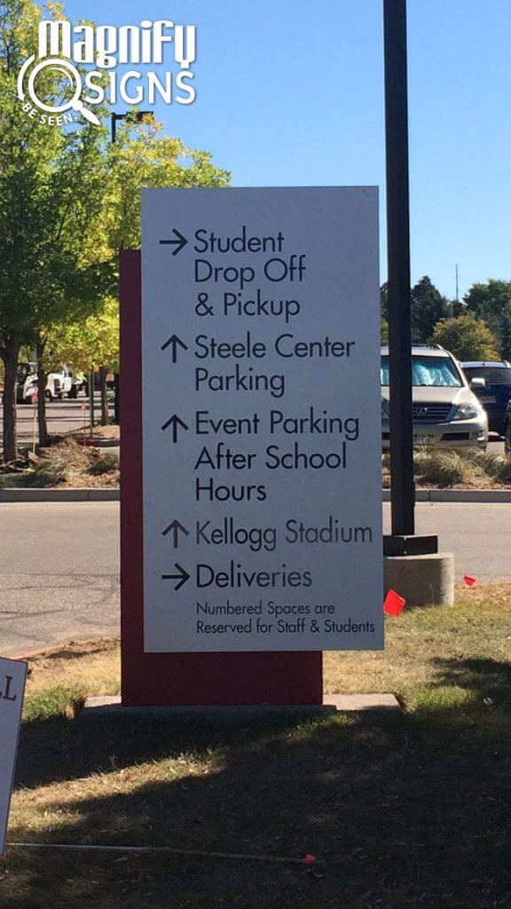 Custom Directional Wayfinding Signs