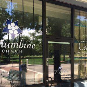 Custom Window Vinyl Graphics for Columbine on Main in Littleton, CO