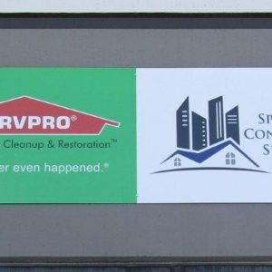 Aluminum Panel Sign for ServPro and Specialty Contracting Service in Denver, CO