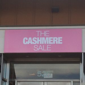 Max Metal Panel Sign for The Cashmere Sale Denver