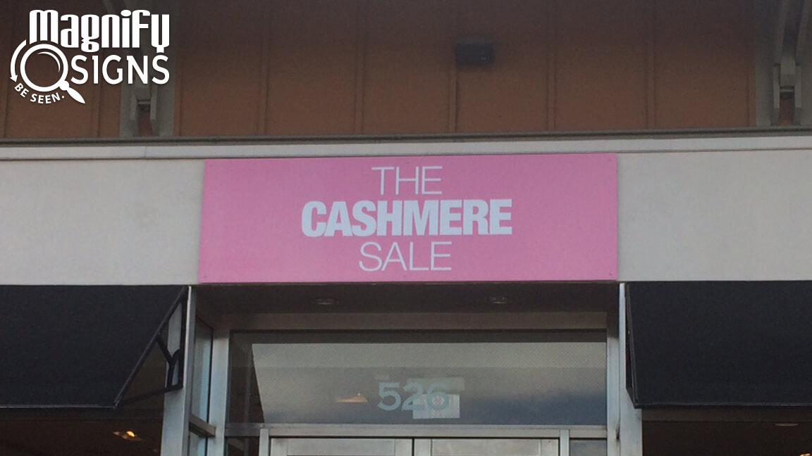 Max Metal Panel Sign for The Cashmere Sale in Littleton, CO