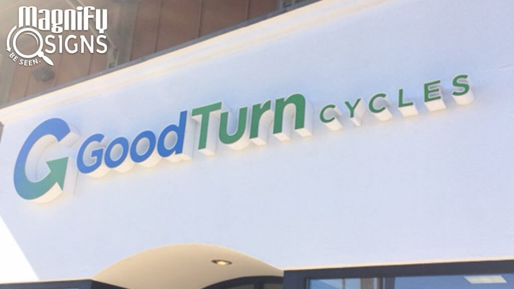 Custom Channel Letters and Logo for Good Turn Cycles in Littleton, CO