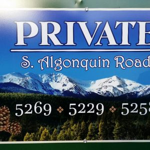 Private Aluminum Gate Sign in Indian Hills, CO