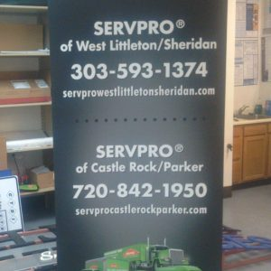 Retractable Banner Stand for Servpro in Parker, CO