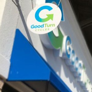 Custom Blade Sign for Good Turn Cycles in Littleton, CO