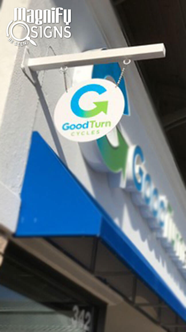 Custom Blade Sign For Good Turn Cycles In Littleton Co