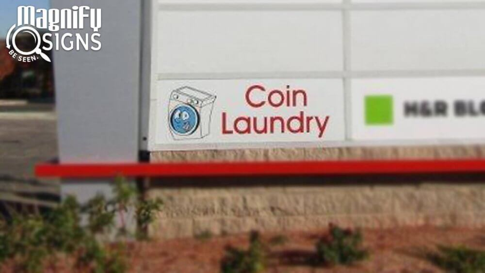 Monument Sign For Coin Laundry In Denver Co Custom
