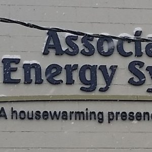 Custom Sign Foam Letters installed on the exterior of Associated Energy Systems in Denver & Englewood