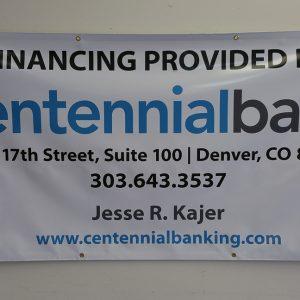 Custom Banner for Centennial Bank in Centennial, CO
