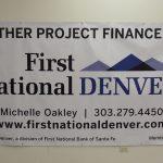 Custom Banner for First National Bank in Denver, CO