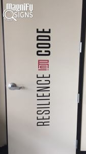 Custom Cut Vinyl Logo for Resilience Code in Centennial, CO