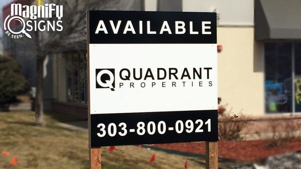 Magnify Signs Property Managemnent signs