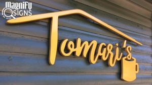 Formed PVC Logo and Letters for Tomari's in Conifer, Colorado