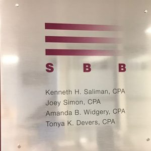 Custom Acrylic Lobby Sign with Graphic Print on face for SBB in Denver, CO