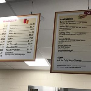 Wooden Menus for Regis Jesuit High School Cafeteria in Arvada, CO