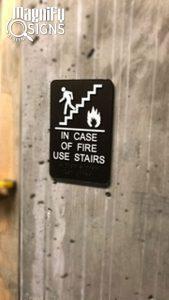 ADA Staircase Sign in Colorado