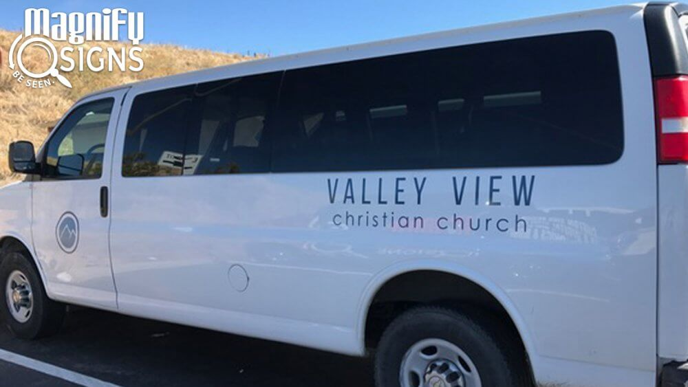 8a7d78a01ccf71 Vehicle Graphics and Lettering on Van for Valley View Christian Church in  Littleton