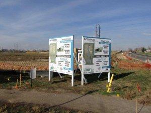 2 Graphic Print Post and Panel Signs for CBRE
