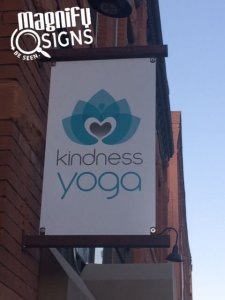 Kindness Yoga Closeup Blade Signs